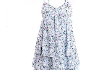 Dámské bílé šaty s jemným vzorkem 2two