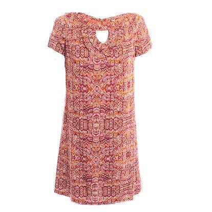 Dámské vínově červené šaty s potiskem 2two