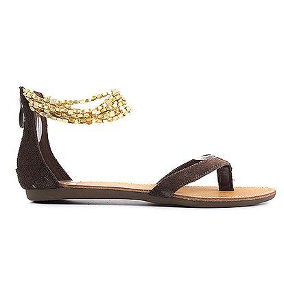 Kožené hnědé páskové boty Gamow