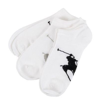 Troje bílé pánské ponožky s logem Ralph Lauren