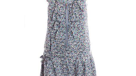 Dámské modré květinové šaty se zipem 2two