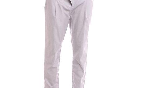 Dámské plátěné kalhoty s jemnými proužky 2two
