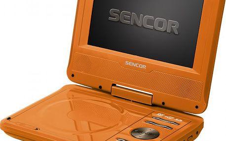 Přenosný DVD přehrávač SENCOR SPV 2719 Orange s otáčecím displejem o úhlopříčce 18 cm
