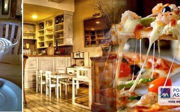 Skvělá akce v OriginalCappuccini Restaurant - přijďte a pochutnejte si na italské pizze a skvělém dezertu v podobě domácího tiramisu nebo zmrzlinového poháru s karamelem