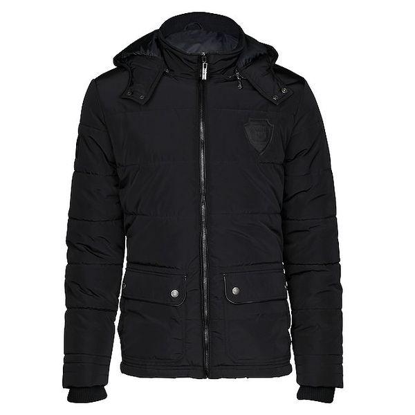 Pánská černá bunda s kapucí Paul Stragas