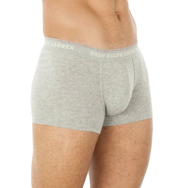 Pánské šedé boxerky s bílým logem Ralph Lauren