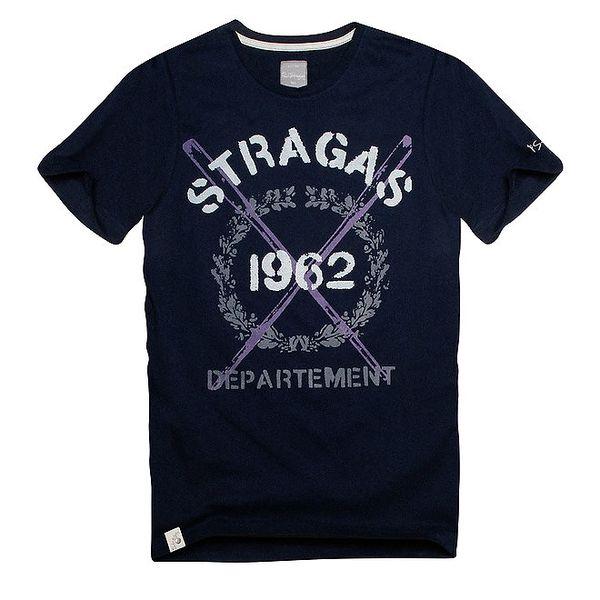 Pánské navy tričko s potiskem Paul Stragass
