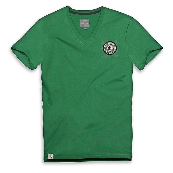 Pánské zelené triko s kulatým logem Paul Stragas