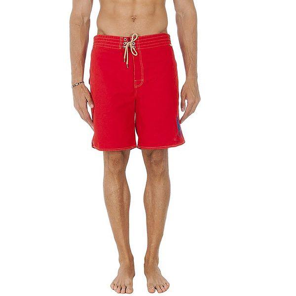 Pánské dlouhé červené plavkové trenýrky Ralph Lauren