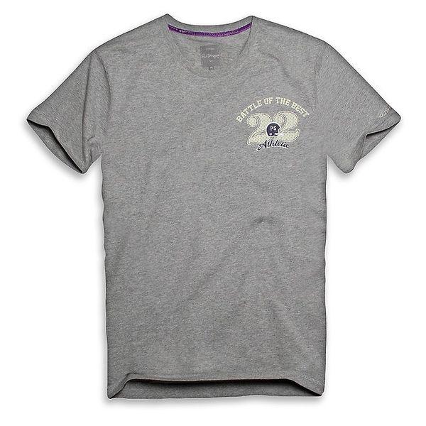Pánské tmavě šedé triko s atletickou 22 Paul Stragas