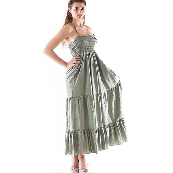 Khaki bavlněné šaty