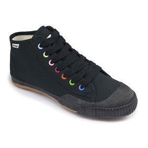 Dámské černé kotníkové tenisky s barevnými detaily Shulong