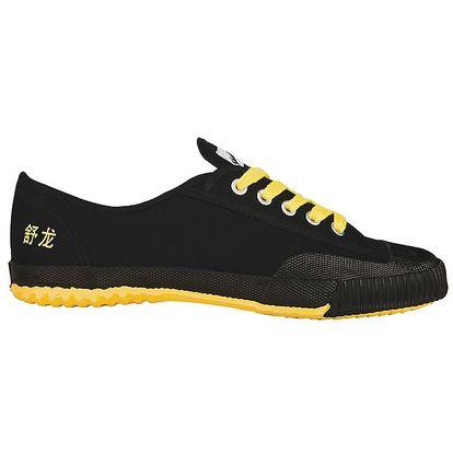 Černé tenisky se žlutou podrážkou Shulong