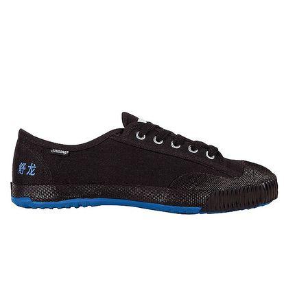 Černé tenisky s modrou podrážkou Shulong