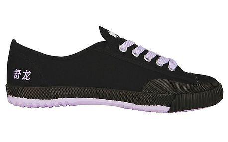 Černé tenisky s fialovou podrážkou Shulong