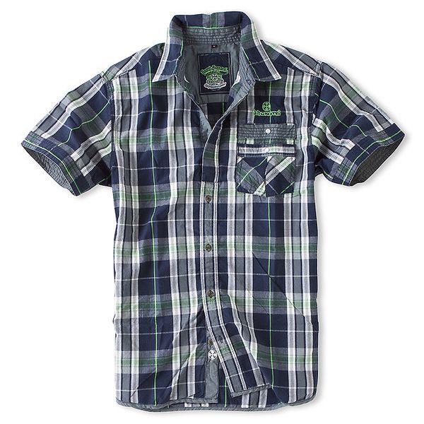 Pánská modro-zelená kostkovaná košile Brunotti