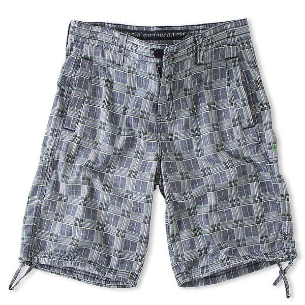 Pánské šedé kostkované šortky Brunotti