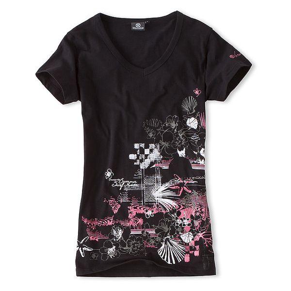 Dámské černé tričko s véčkem Brunotti