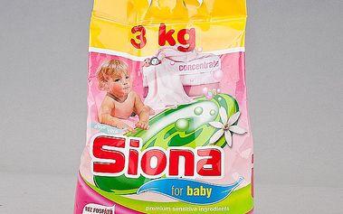 Prací prostředek SIONA Baby. Namáčení, předpírání, praní i vyvářka kojeneckého a dětského prádla