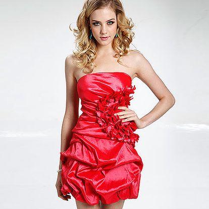 Červené koktejlové šaty Countess