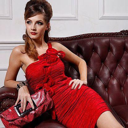 Červené koktejlové šaty Hot