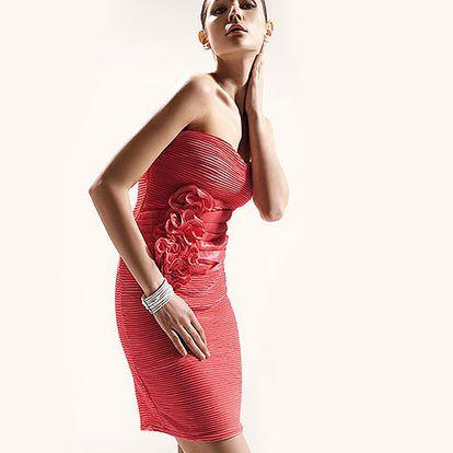 Korálové koktejlové šaty Rose