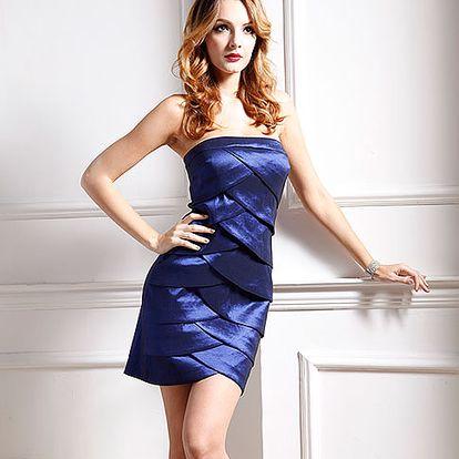 Tmavě modré koktejlové šaty Woman