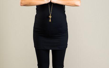 Černé tílko - YOGA - ideální na jakékoli těhotenské cvičení