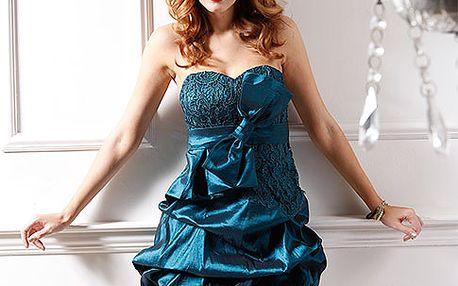 Modré koktejlové šaty Princess
