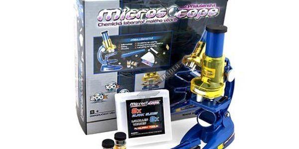 Mikroskop s příslušenstvím - kompletně v češtině!!
