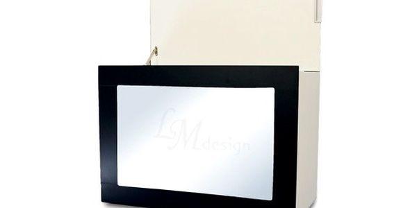 Multifunkční koš Zrcadlo, černý rám