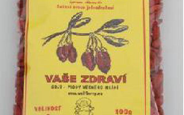 Sušené plody kustovnice čínské Goji 100 g - mimořádně zdravá svačinka!