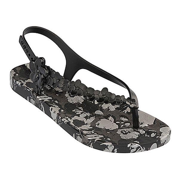 Šedé sandále Flowers