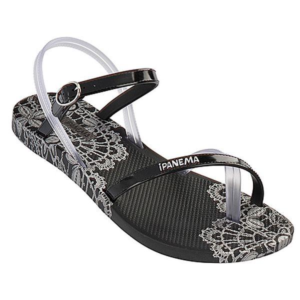 Černé sandále Lace