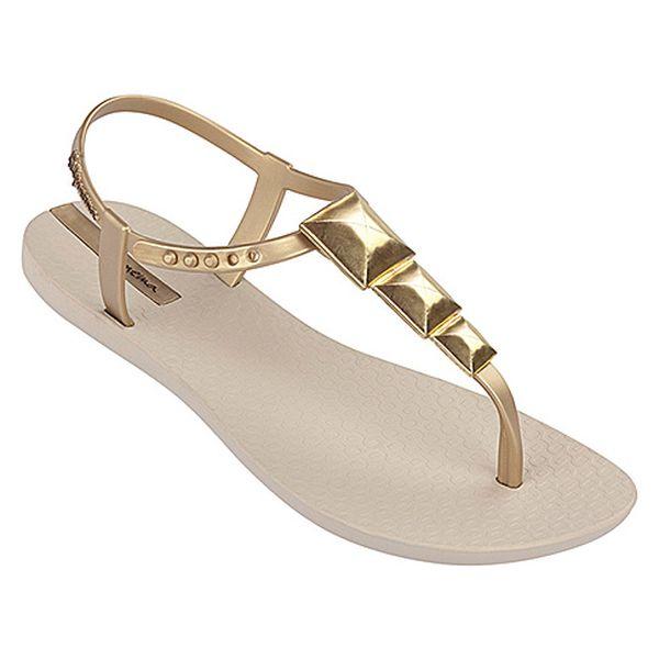 Zlatavé sandále Squares