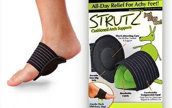 Podpora na chodidla Comfort Strutz za 75 Kč. Tato chytrá pomůcka podporuje a pomáhá absorbovat nárazy při každém kroku a ulevíte bolesti klobů u nohou.
