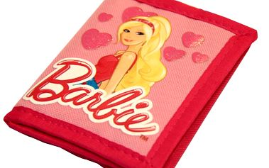 Contrast Peněženka Barbie - kapsička na mince, přihrádka na papírové peníze a dvě menší na doklady