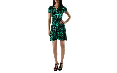 Dámské šaty fifilles de paris alfa zeleno-černé