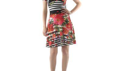 Dámské šaty FIFILLES DE PARIS Alfa multicolor červeno-černé