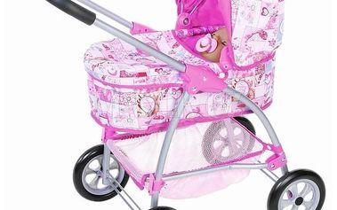 Baby Born Hluboký kočárek 3v1 Zapf pro panenky s polohovatelnou korbičkou a stříškou