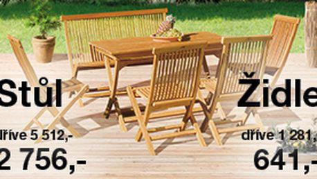 50% sleva na zahradní nábytek v oblíbeném e-shopu Sconto.cz