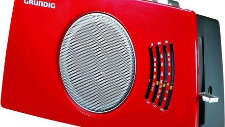 """Radiopřijímač Grundig RP 4900 ve stylu """"Retro"""" se 3 pásmy příjmu a možností napájení bateriemi"""