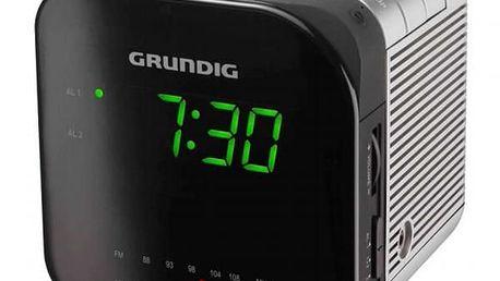 Radiobudík GRUNDIG SONOCLOCK 590 se zajímavým designem ve tvaru kostky