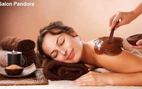 LUXUSNÍ ČOKOLÁDOVÁ MASÁŽ s KÁVOVÝM peelingem v salonu PANDORA. Voňavá relaxace.