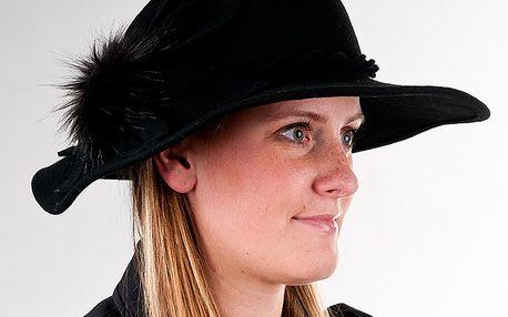 Dámský klobouk Karpet 1153, černý, 55 / 56