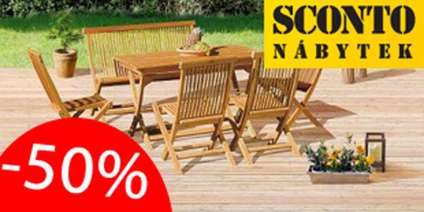 50% sleva na kvalitní zahradní nábytek ze Sconto. Nakupte za polovinu ceny!