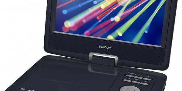 Přenosný DVD přehrávač SENCOR SPV 2918 Dark Blue s komfortním otáčecím displejem