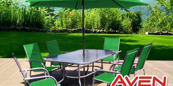 Kovový zahradní nábytek Avenberg – 8dílný set