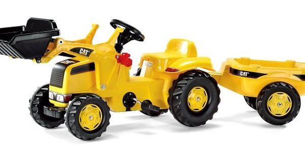 Rolly Toys Nakladač Caterpillar s vlečkou - žlutý. Vhodné pro děti již od 2,5 let