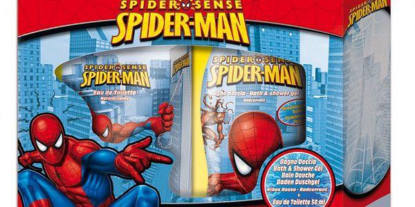 Dětská kosmetická sada EP LINE SPIDERMAN obsahuje sprchový gel 250ml a toaletní vodu 50ml.